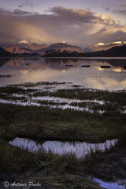 Amanecer en las Highlands
