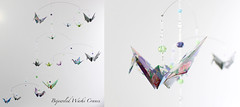 Bejeweled Washi Print Crane Mobile