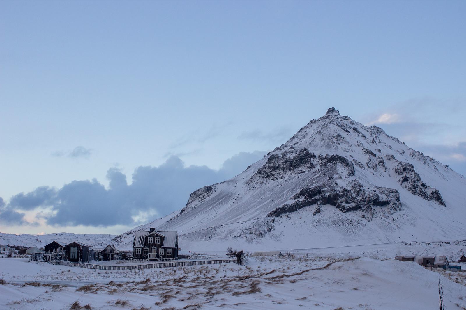 Snaefellsjokull in Iceland's Snaefellsnes Peninsula during December