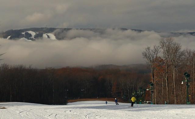 early winter skiing