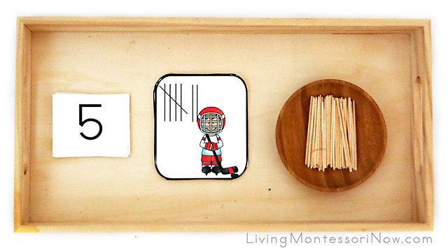 Winter Sports Tally Marks Creating and Number Matching Activity Tray