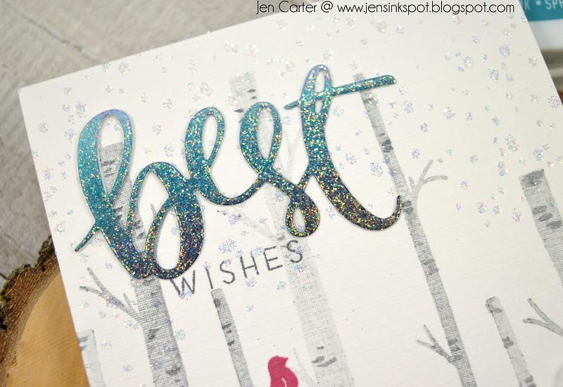 Jen Carter CP Winter Woodland Best Wishes Closeup