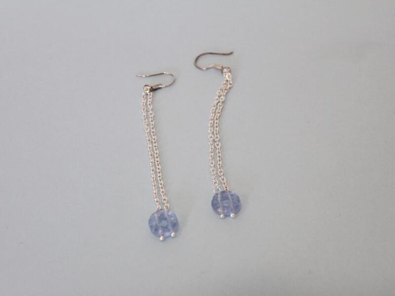 double hole glass earrings