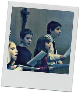 Izzy, Noah and Gabe singing