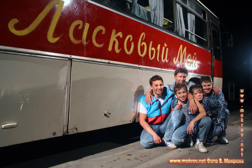 На съемках худ. фильма «Ласковый май» фотозарисовки
