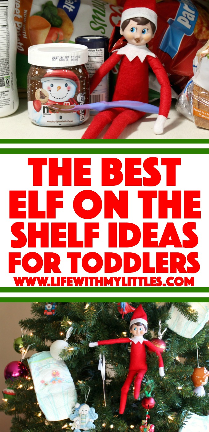 32+ of the best and easiest Elf on the Shelf ideas for toddlers! Fast, simple, and fun for your little kids!