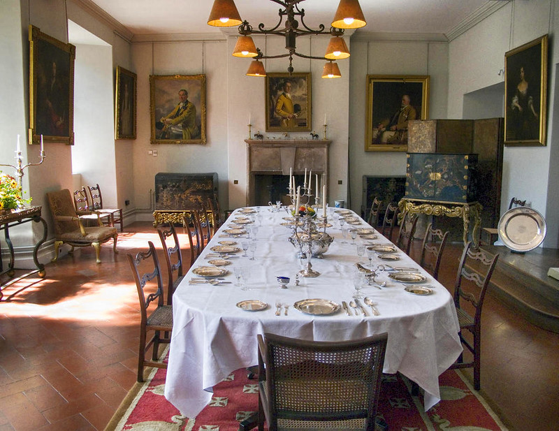 Berkeley Castle dining room, Gloucestershire. Credit Fiducial