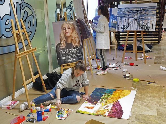 II concurso juvenil de pintura rápida, centro comercial ISILLA