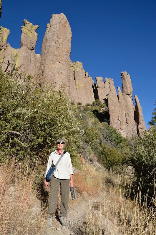 Chiricahua National Monument Linda and the hoodoos