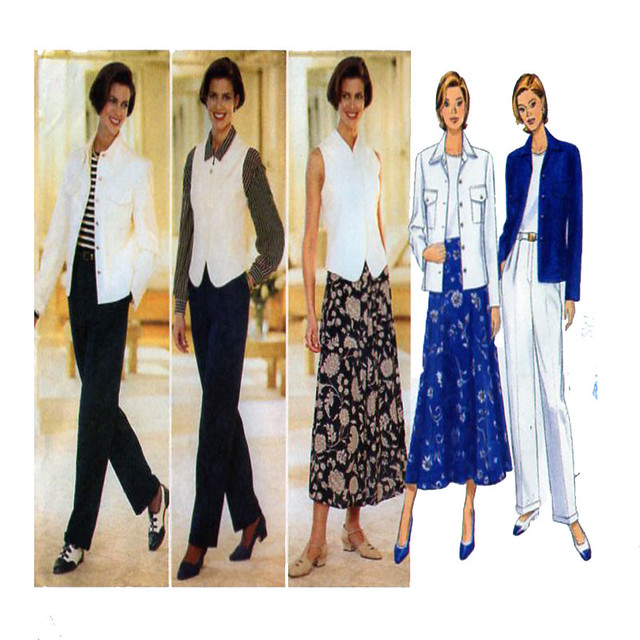 Butterick 4450 career casual fashion
