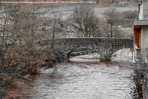 Hebden Water and the Old Bridge.
