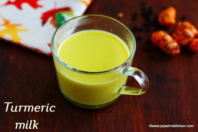 Turmeric-milk recipe
