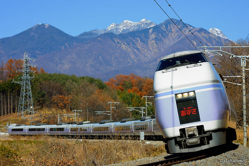 E351系 特急「スーパーあずさ」長坂カーブ