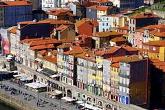 Historic buildings along the Douro River, Porto