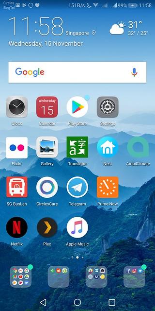 Huawei Mate 10 Pro - Home