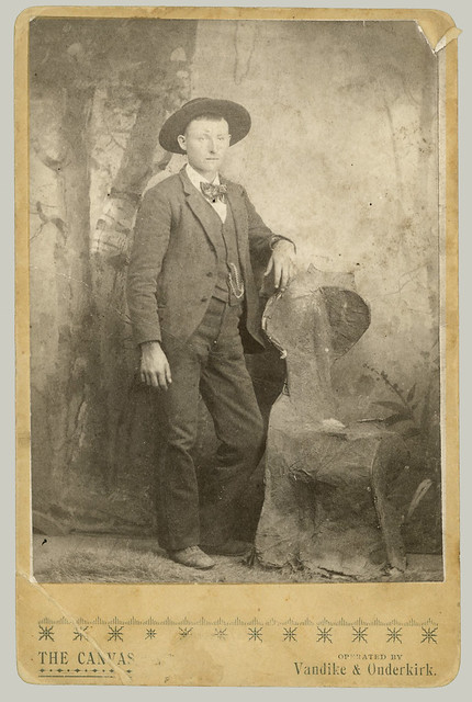 Cabinet Card man and chair