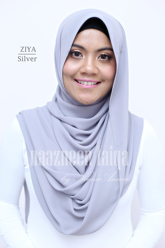 Wide Long Shawl - Ziya (Silver)