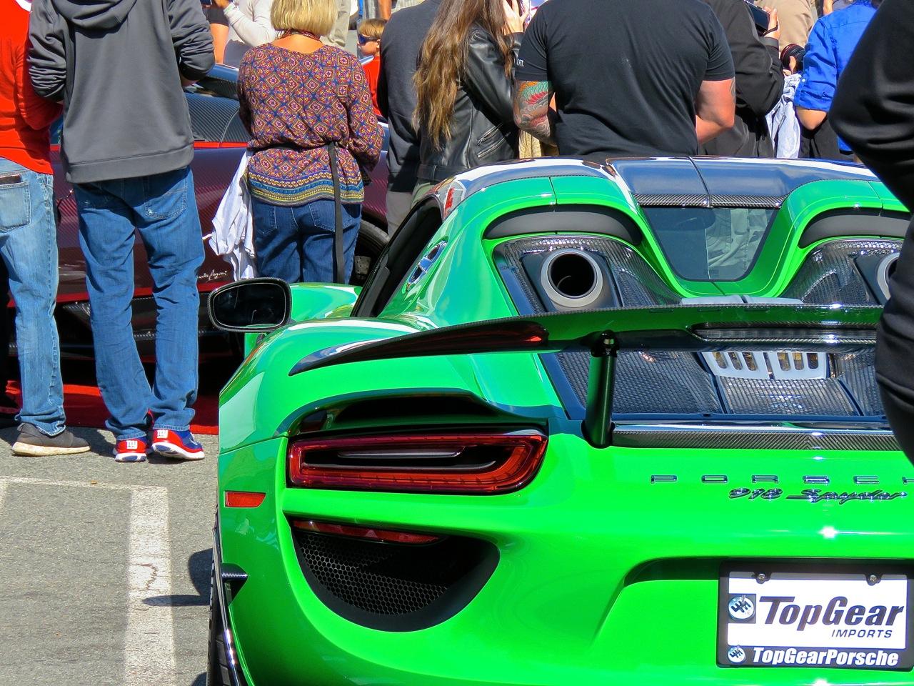 Green Porsche 918 Cars and Caffe 2