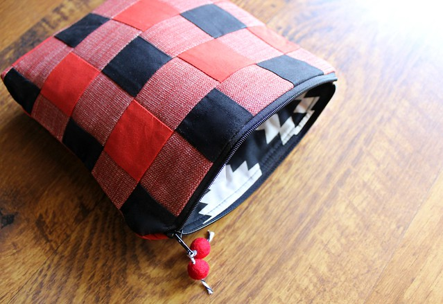 Buffalo Check Bag lined in Love Story
