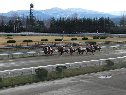 金沢競馬場の直線の攻防