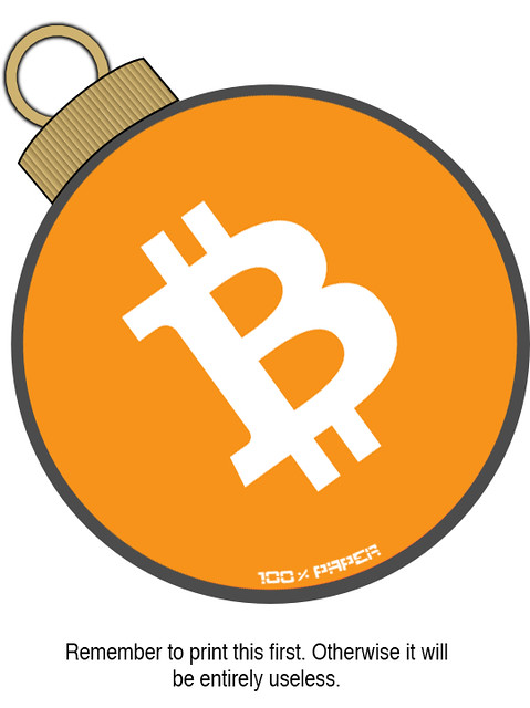 100% PAPER BITCOIN ORNAMENT