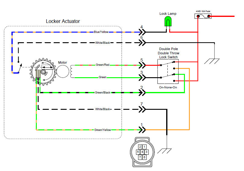 e locker wiring installation tacoma world rh tacomaworld com Nest Thermostat Wiring Diagram Toyota E-Locker Parts