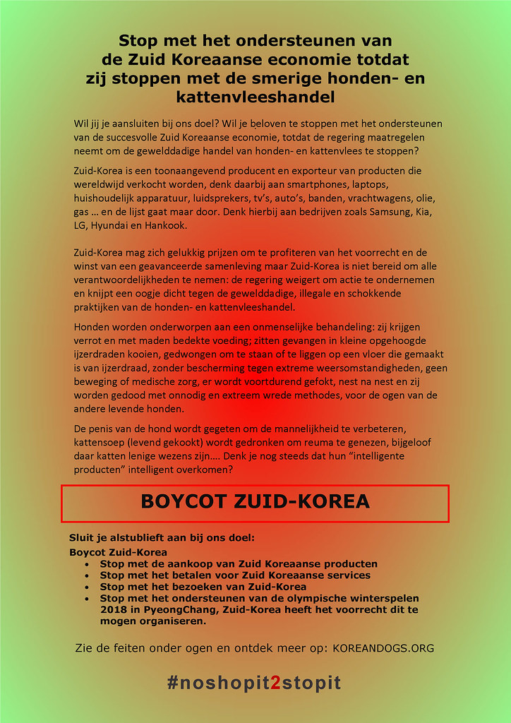 South Korea's filthy dog meat trade #noshopit2stopit in Dutch