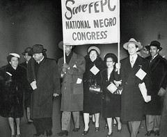 Fair employment demonstrators' march on the Capitol: 1946