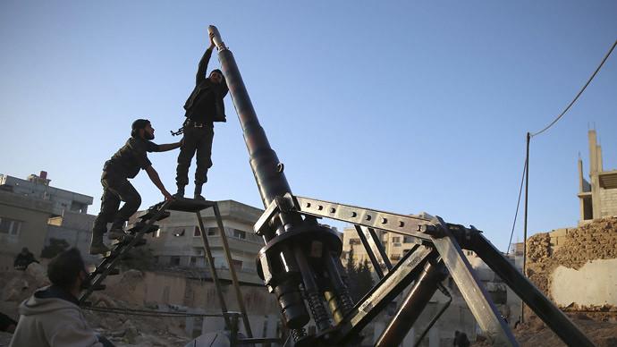 Syria-cannon-C-FSA-eastern-ghouta-20140129-rts-1