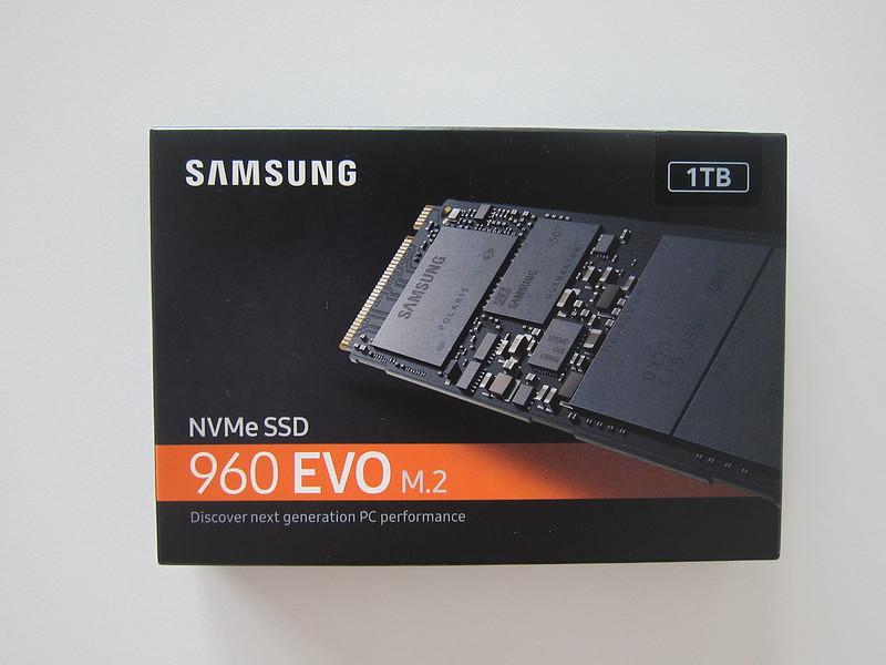Samsung 960 Evo NVMe M.2 SSD - Box Front