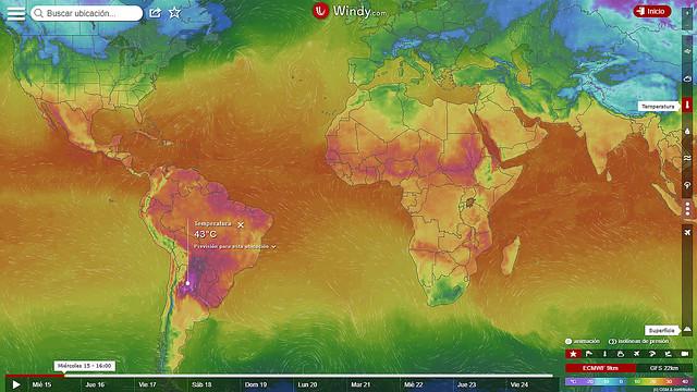 La región más caliente