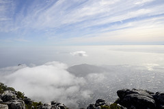 table mountain view on cape town