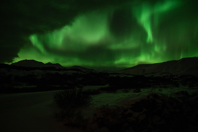 Partly cloudy with a chance of auroras