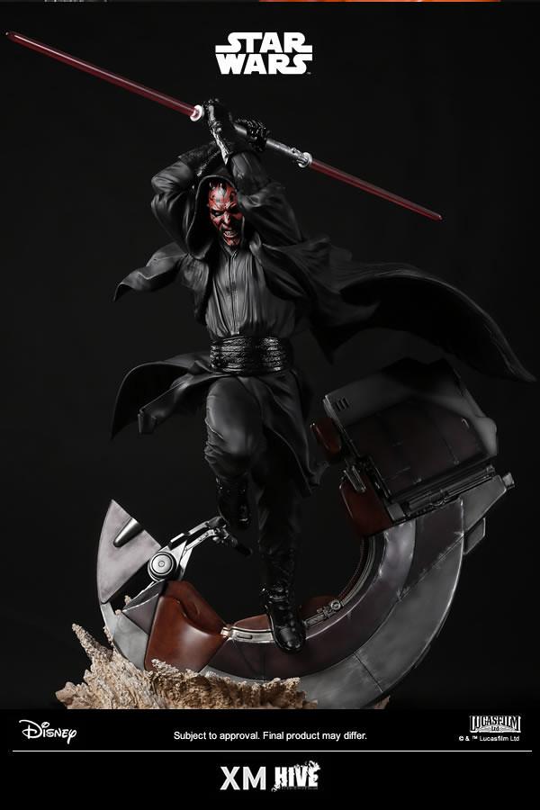 極具躍動性的魄力姿態,從地獄歸來的復仇者!! XM Studios Premium Collectibles 系列《星際大戰》達斯·魔 Darth Maul 1/4 比例全身雕像作品