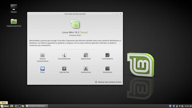 Linux Mint Sonya 1.8.2