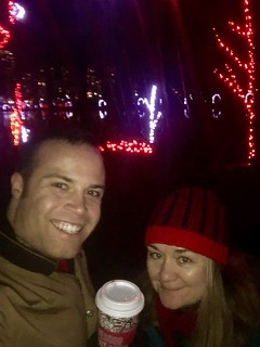 Scott and Beth enjoying the lights at Lafarge Lake