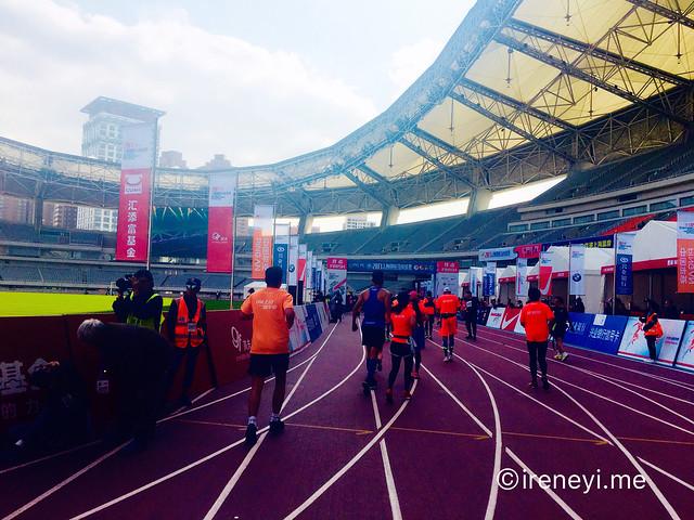 上海馬拉松2017終點