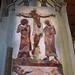 Medieval arch painting, fresco, 13thC - Cathedral and Abbey Church of Saint Alban, St Albans, England
