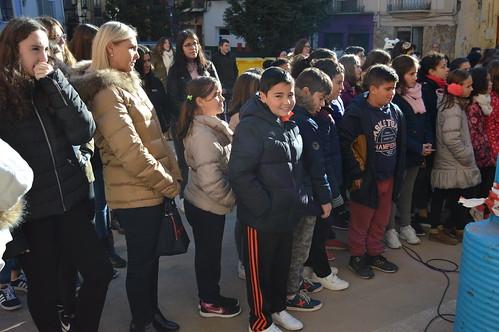 Visita de escolares gigantografía