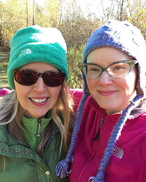 Mumsie and me on a cold sunny dog walk yesterday.