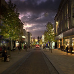 Dusk over Fishergate, Preston