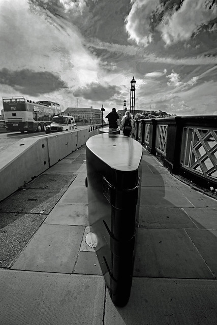 Barrier in Black and white