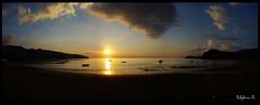Coucher de soleil sur la baie de Hamjago
