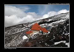 Refugio del volcán Cotopaxi a 4864 metros. Ecuador.