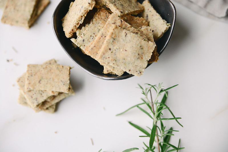 Gluten-Free Rosemary Crackers