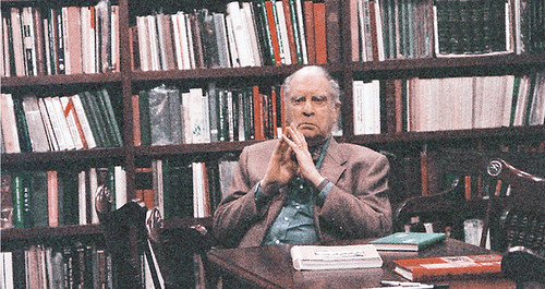Eric P. Newman in library