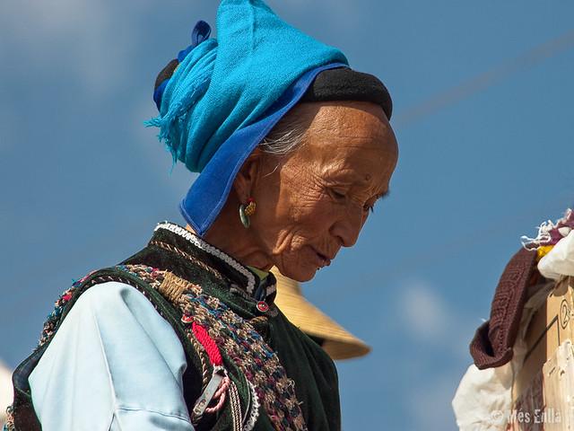 Mujer de la étnia Bai