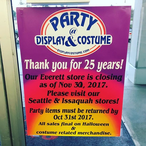 Ughhhh so sad that #displayandcostume is closing their Everett store! As long as the Northgate store stays open, I think I'll survive. It's doubly depressing because I didn't go to their going out of business sale until today...I could've purchased so man