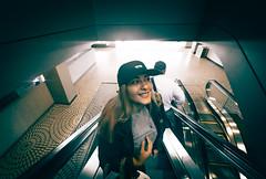 elevator stairs.