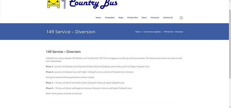 149 Service – Diversion – Country Bus Devon